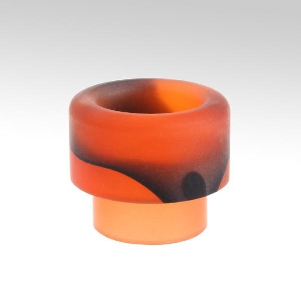 Мундштук акриловый (810 дрип тип) цыет: оранжевый + чёрный