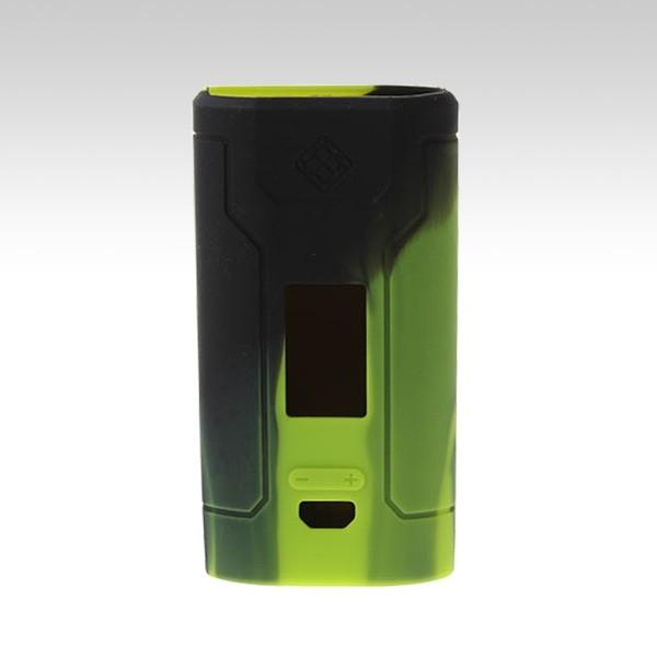Силиконовый чехол для Wismec Predator 228W чёрно-зелёного цвета