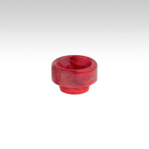Мундштук для клиромайзера RESIN (810 дрип тип)  Цвет - Color Mix (красный-фиолетовый-розовый)