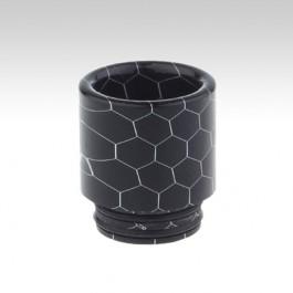Мундштук RESIN с орингами (810 дрип тип) Цвет: черный, Высота х Диаметр - 18.5 х 17 мм