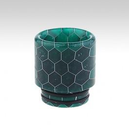 Мундштук RESIN с орингами (810 дрип тип) Цвет: зелёный, Высота х Диаметр - 18.5 х 17 мм