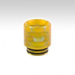 Мундштук RESIN с орингами (810 дрип тип) Цвет: Yellow (жёлтый), Высота х Диаметр - 18.5 х 17 мм