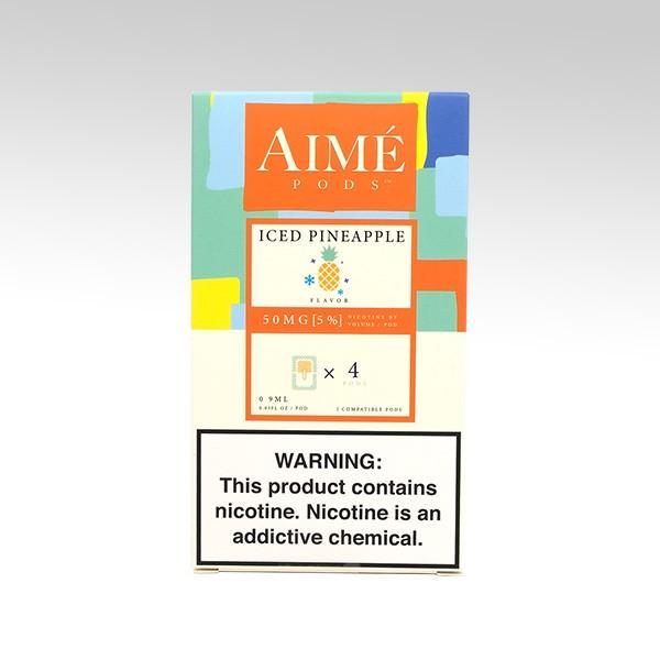 Картридж AIME PODS для JUUL, вкус: Iced Pineapple (Ананас со льдом)
