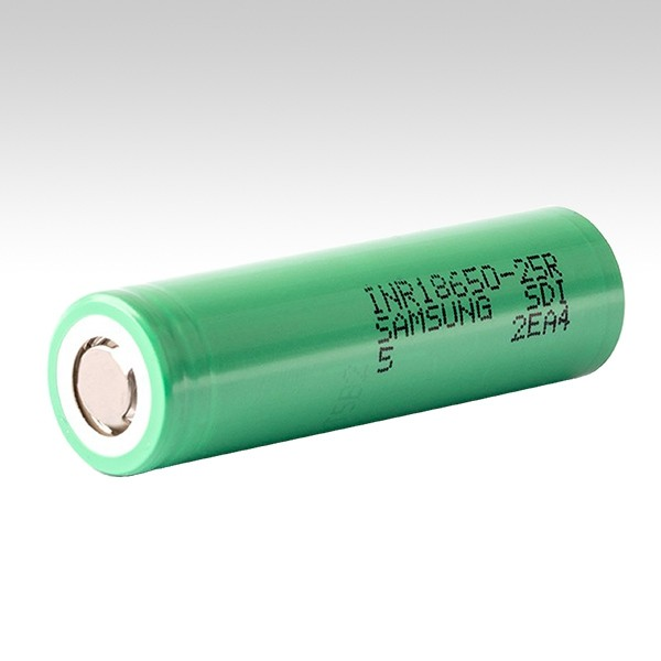 Высокотоковый аккумулятор Samsung INR18650-25R (Green))